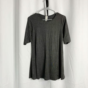lyss loo gray blouse top m